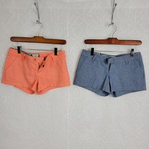 Volcom Frochickie Coral & Chambray Chino Shorts